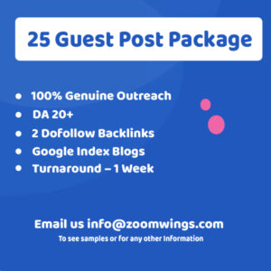Business – 25 Guest Post Package