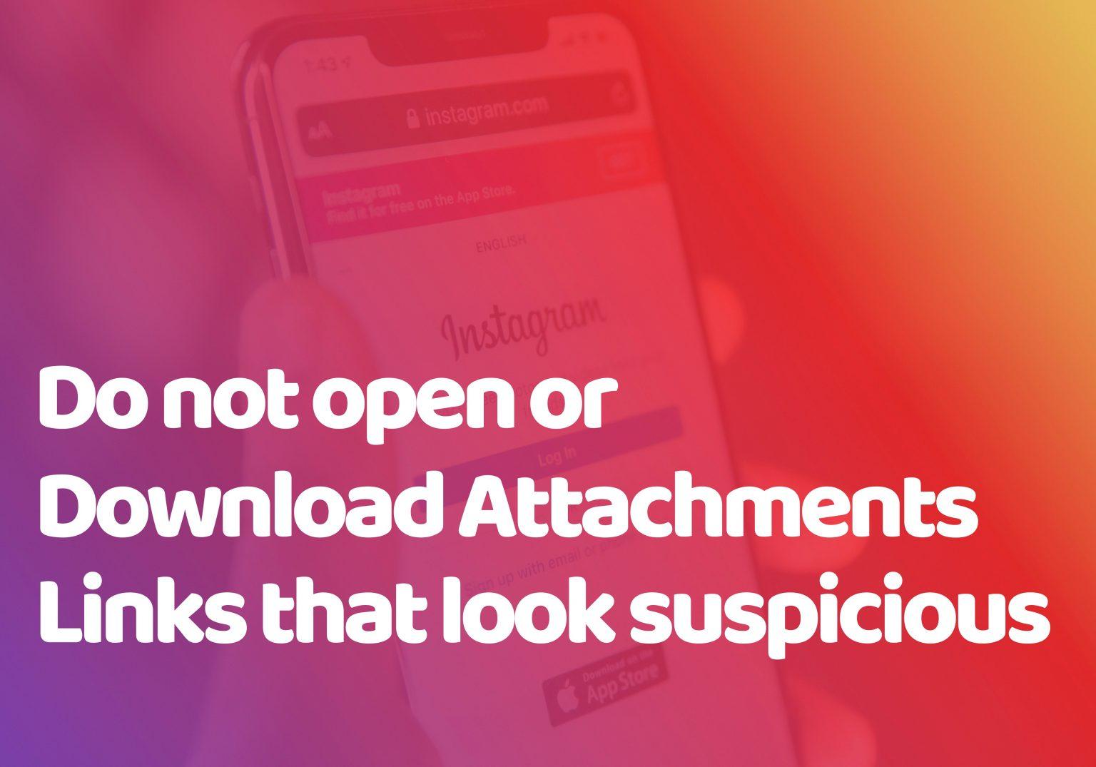 suspicious attachments