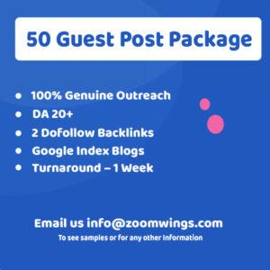Enterprise – 50 Guest Post Package