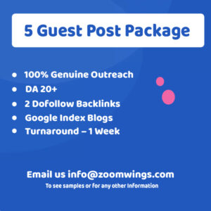 Starter – 5 Guest Post Package