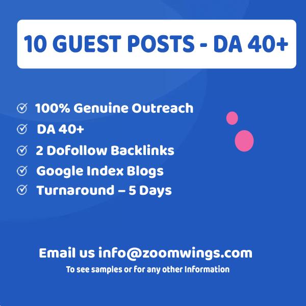 10 Guests Posts - DA 40+