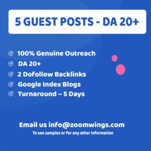 5 Guest Posting - DA 20+
