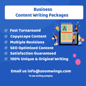 Business – Content Writing Packages