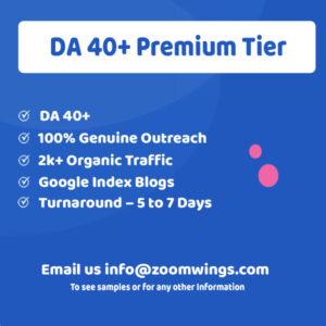DA 40+ Premium Tier