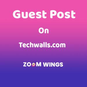 Guest Post on Techwalls.com