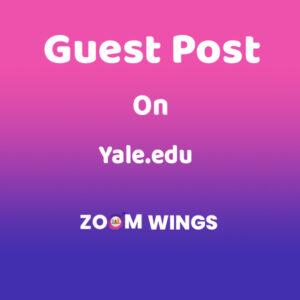 Guest Post Yale.edu